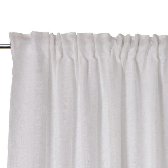 Tenda Oceania bianco fettuccia 140 x 300 cm - 1