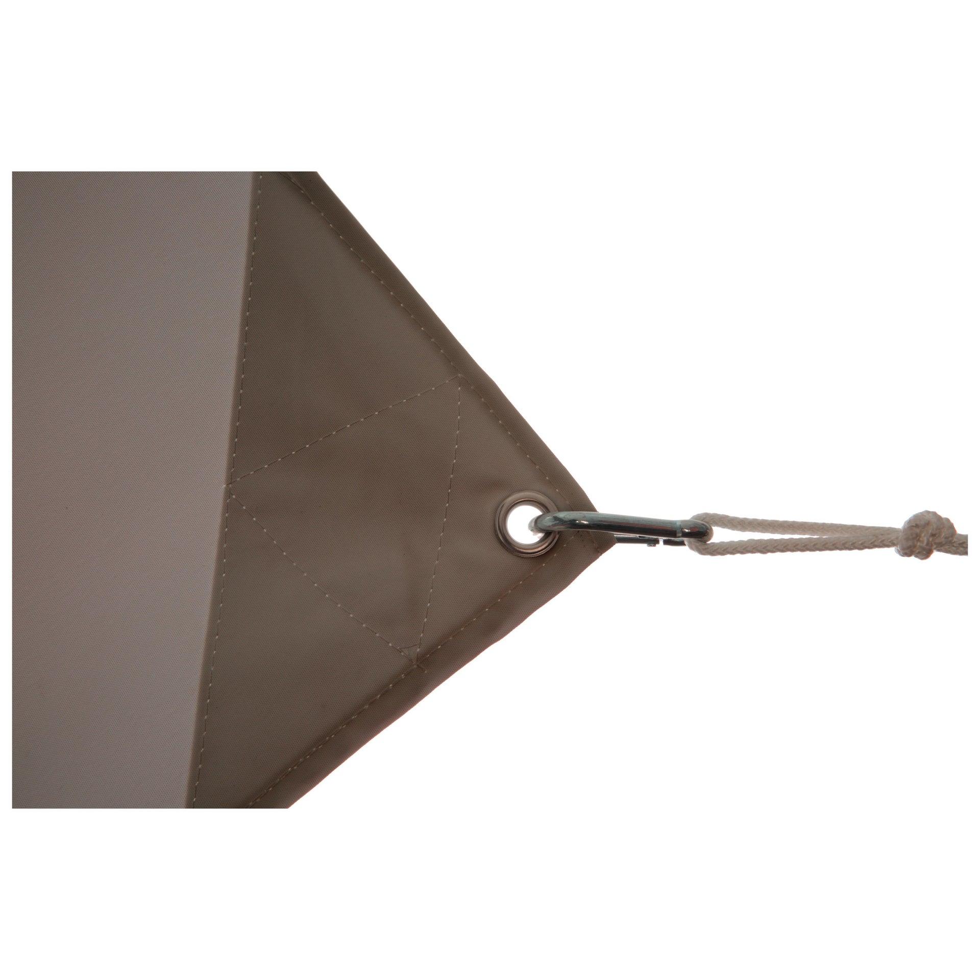 Vela ombreggiante Shade rettangolare tortora 300 x 400 cm - 4