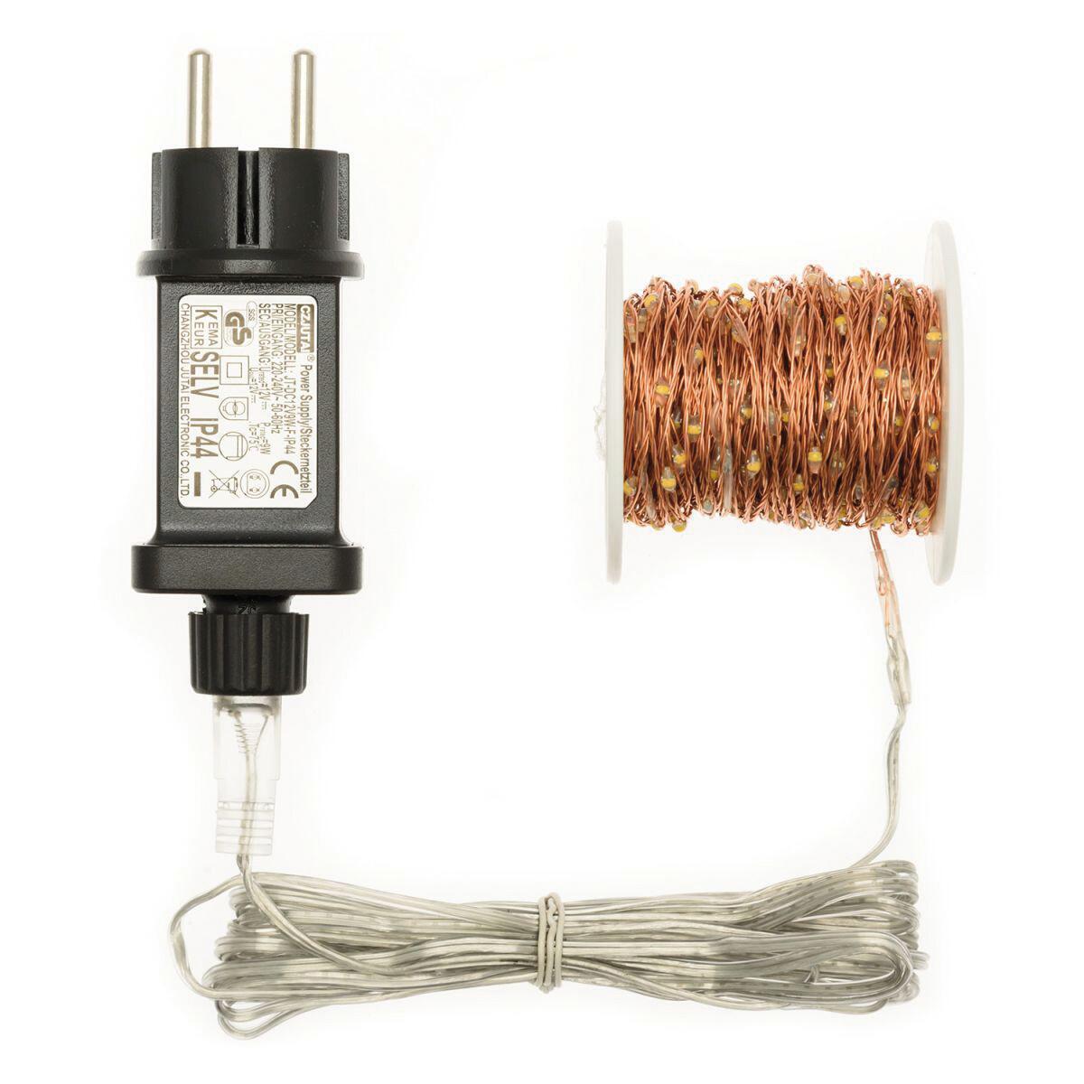 Catena luminosa 500 lampadine LED bianco caldo 37.5 m - 5