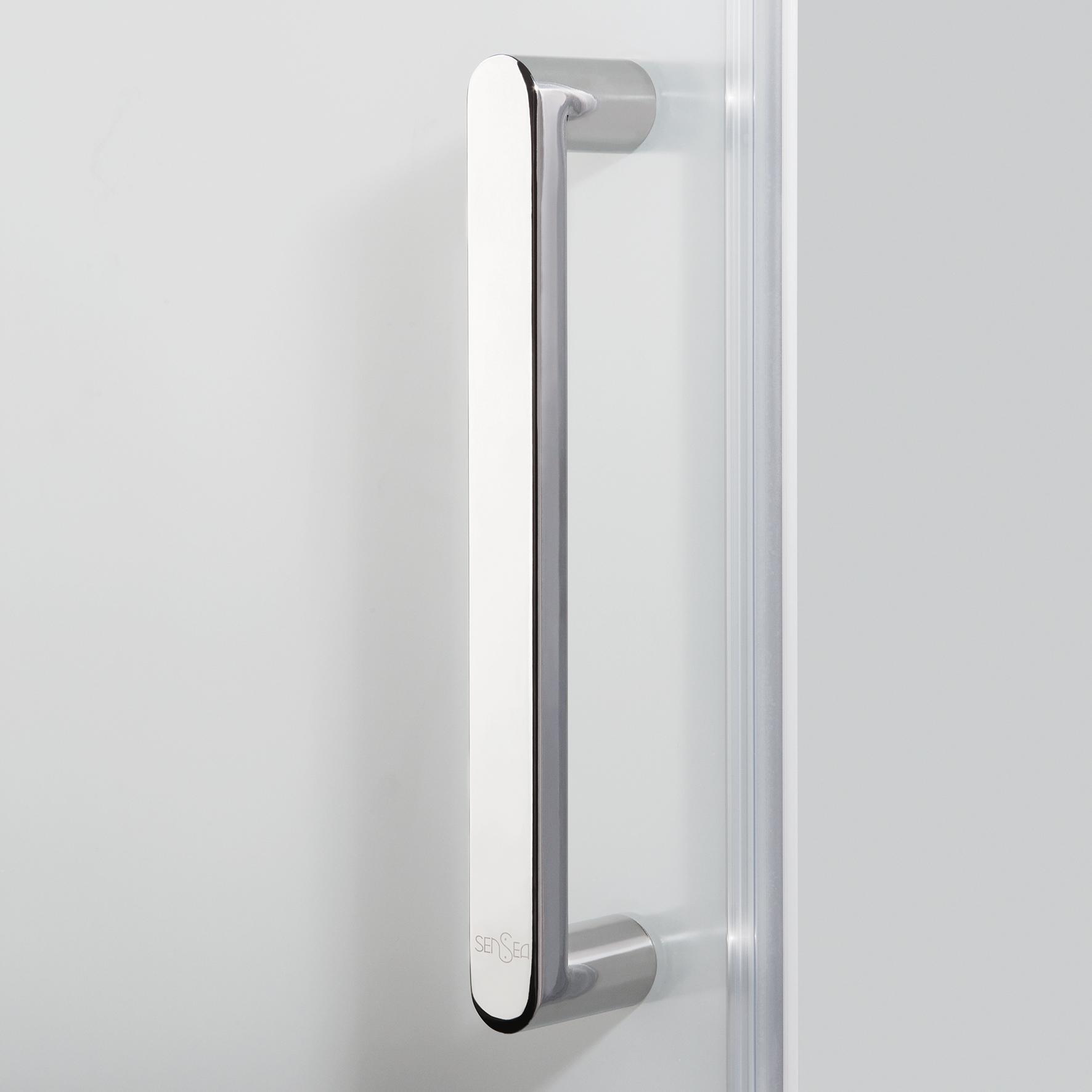 Porta doccia scorrevole Quad 120 cm, H 190 cm in vetro, spessore 6 mm serigrafato cromato - 5