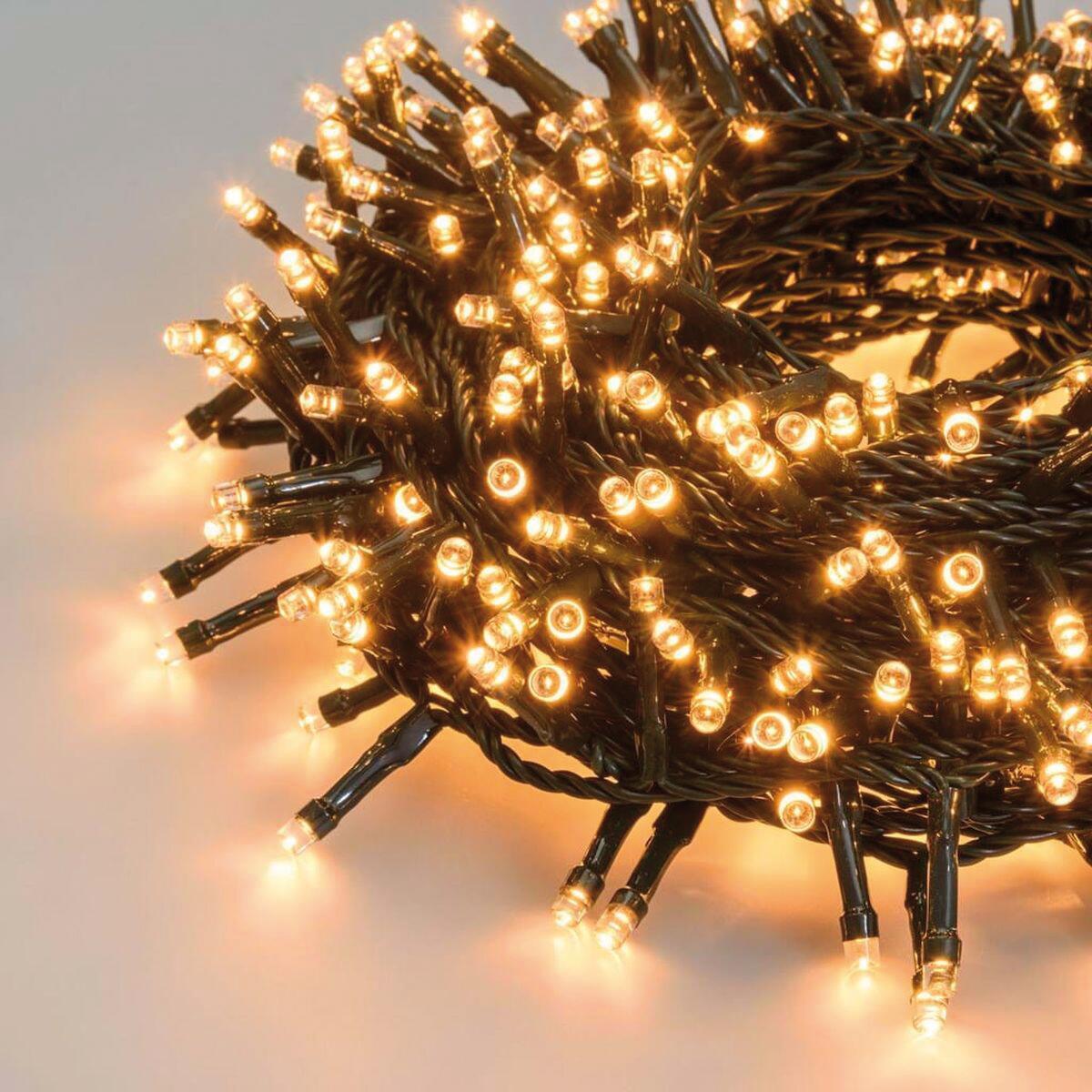 Catena luminosa 180 lampadine LED bianco caldo 2 m