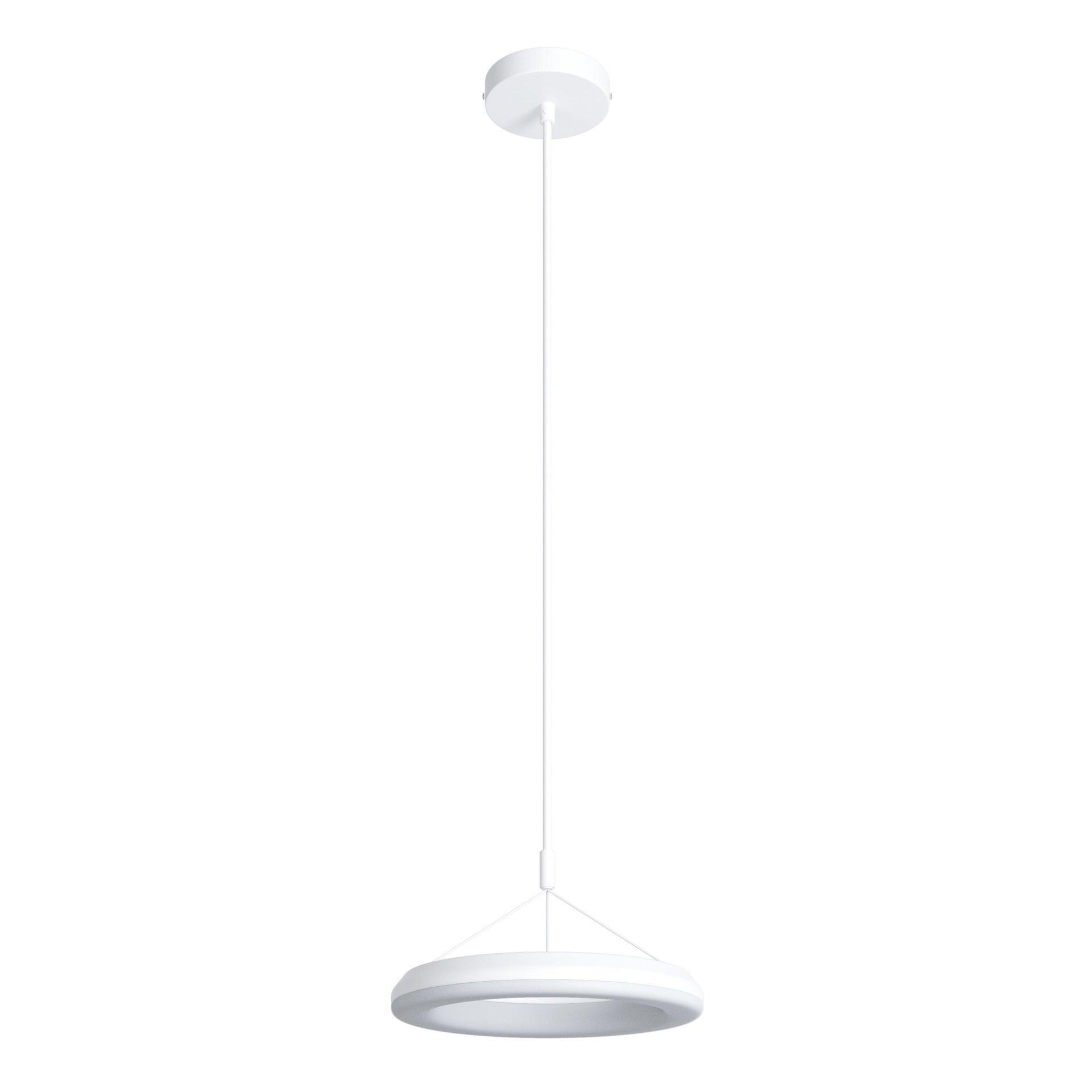 Lampadario Design Kuy LED integrato bianco, in alluminio, D. 25 cm, INSPIRE - 1