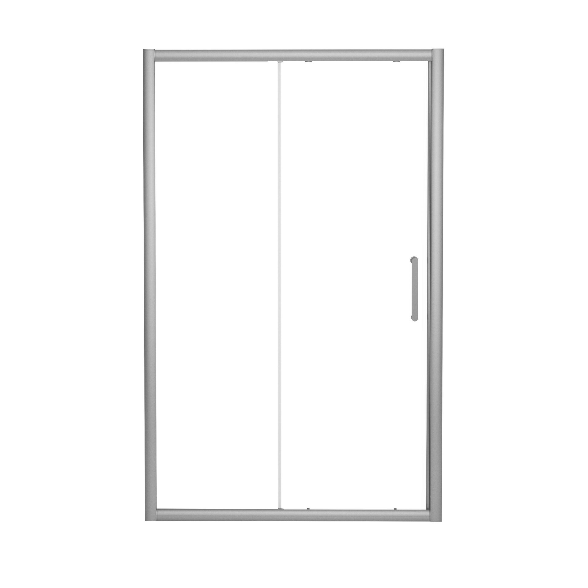 Porta doccia scorrevole Quad 100 cm, H 190 cm in vetro, spessore 6 mm trasparente satinato - 3