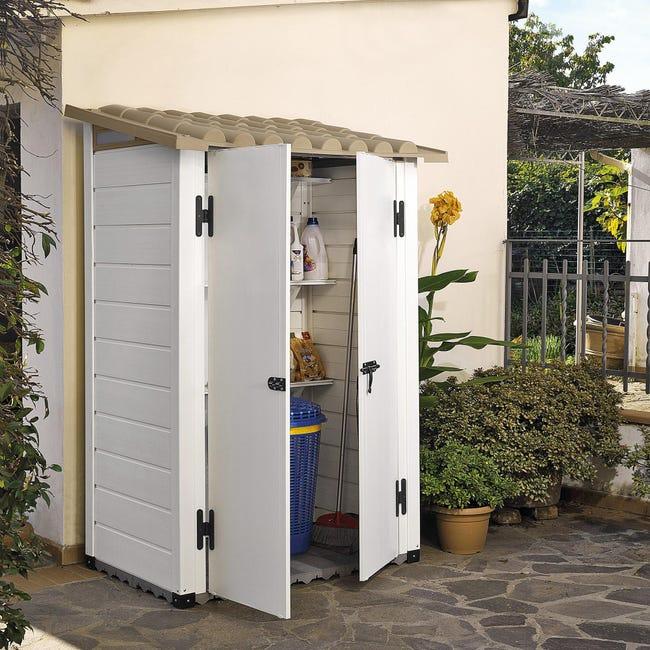 Casetta da giardino in pvc Tuscany 100, superficie interna 0.88 m² e spessore parete 20 mm - 1