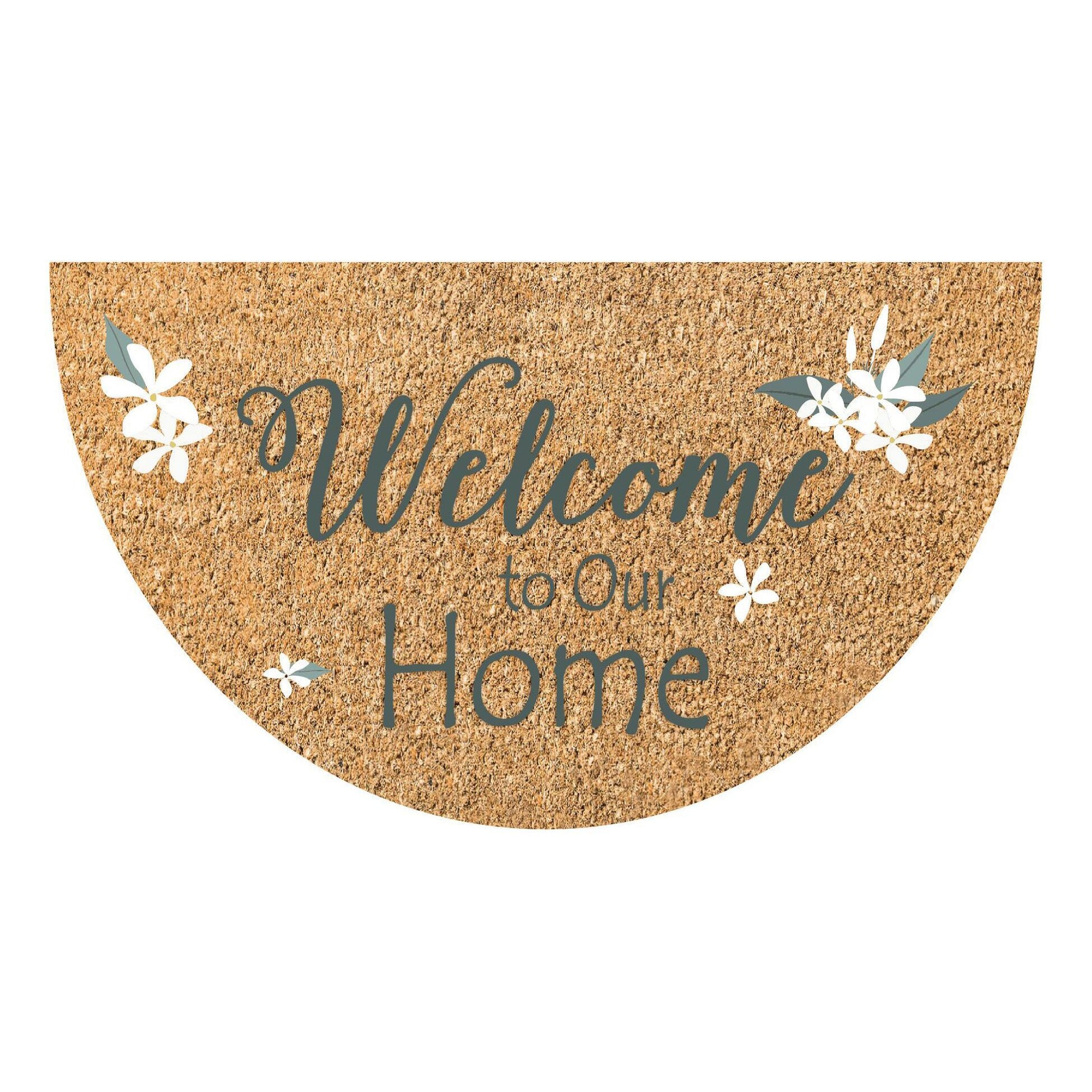 Zerbino Jolly Welcome to our home in cocco multicolore 40x70 cm