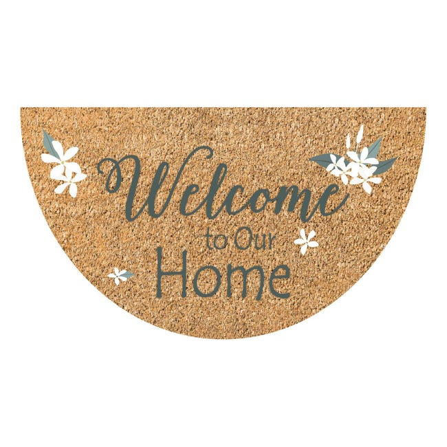 Zerbino Jolly Welcome to our home in cocco multicolore 40x70 cm - 1