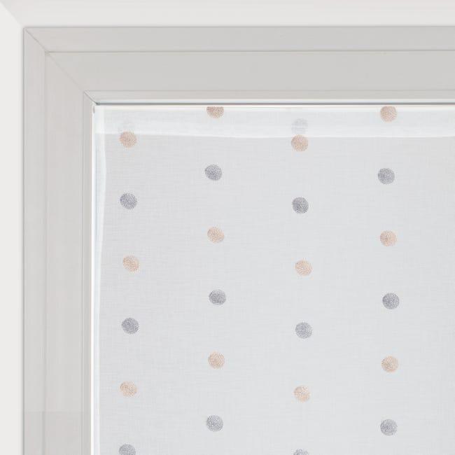 Tendina vetro Chloe bianco tunnel 60 x 240 cm - 1