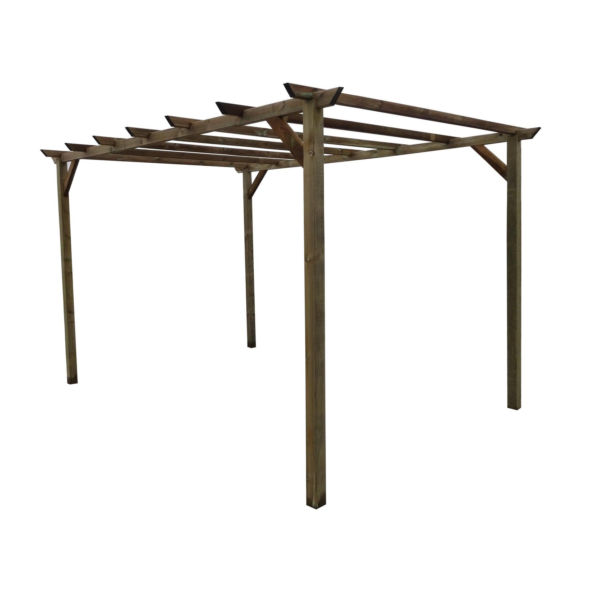 Pergola Libera Eco in legno marrone L 300 x P 400 , H 244 cm