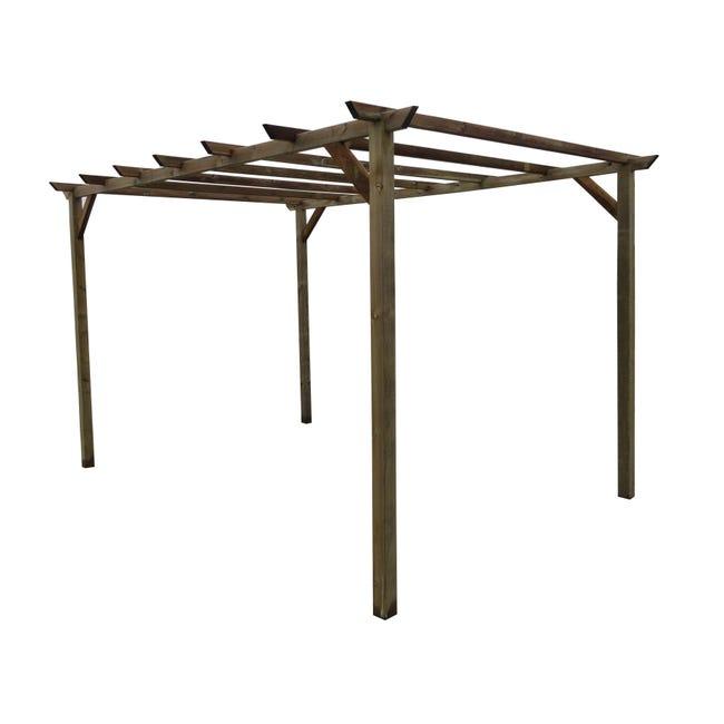 Pergola Libera Eco in legno marrone L 300 x P 400 , H 244 cm - 1