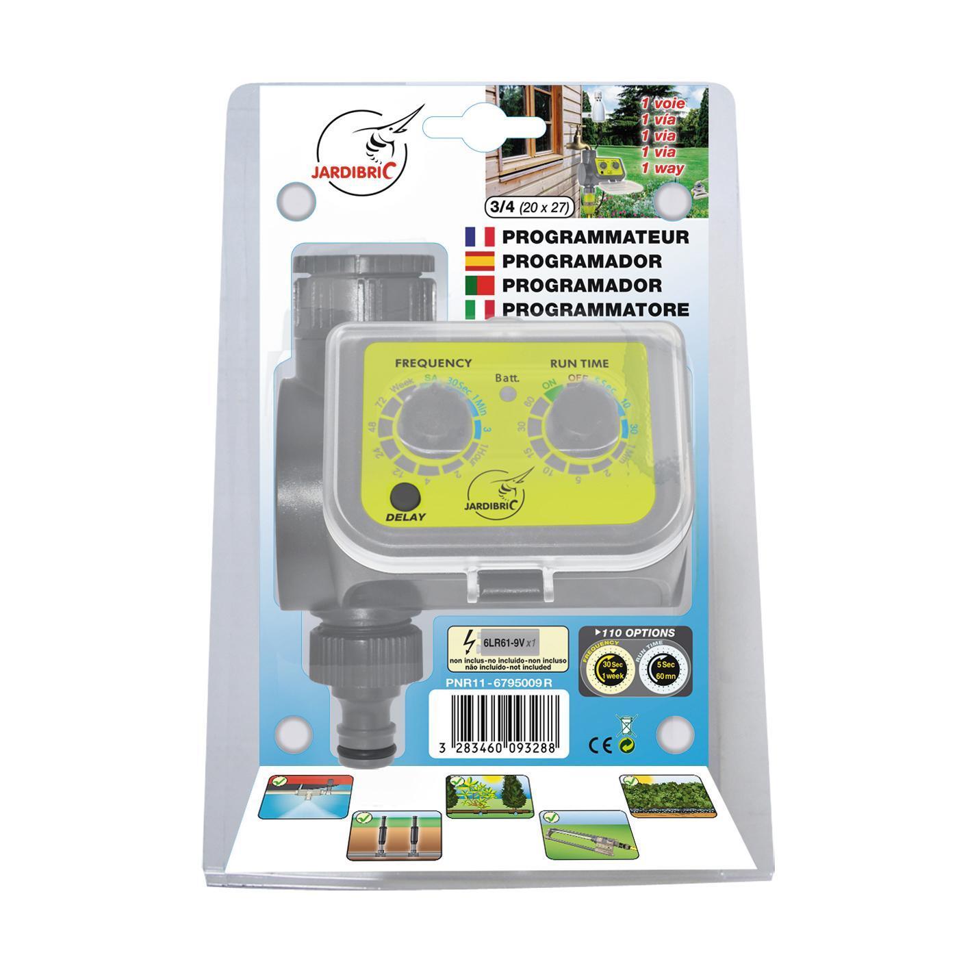 Programmatore da rubinetto batteria JARDIBRIC PNR11 1 via - 3