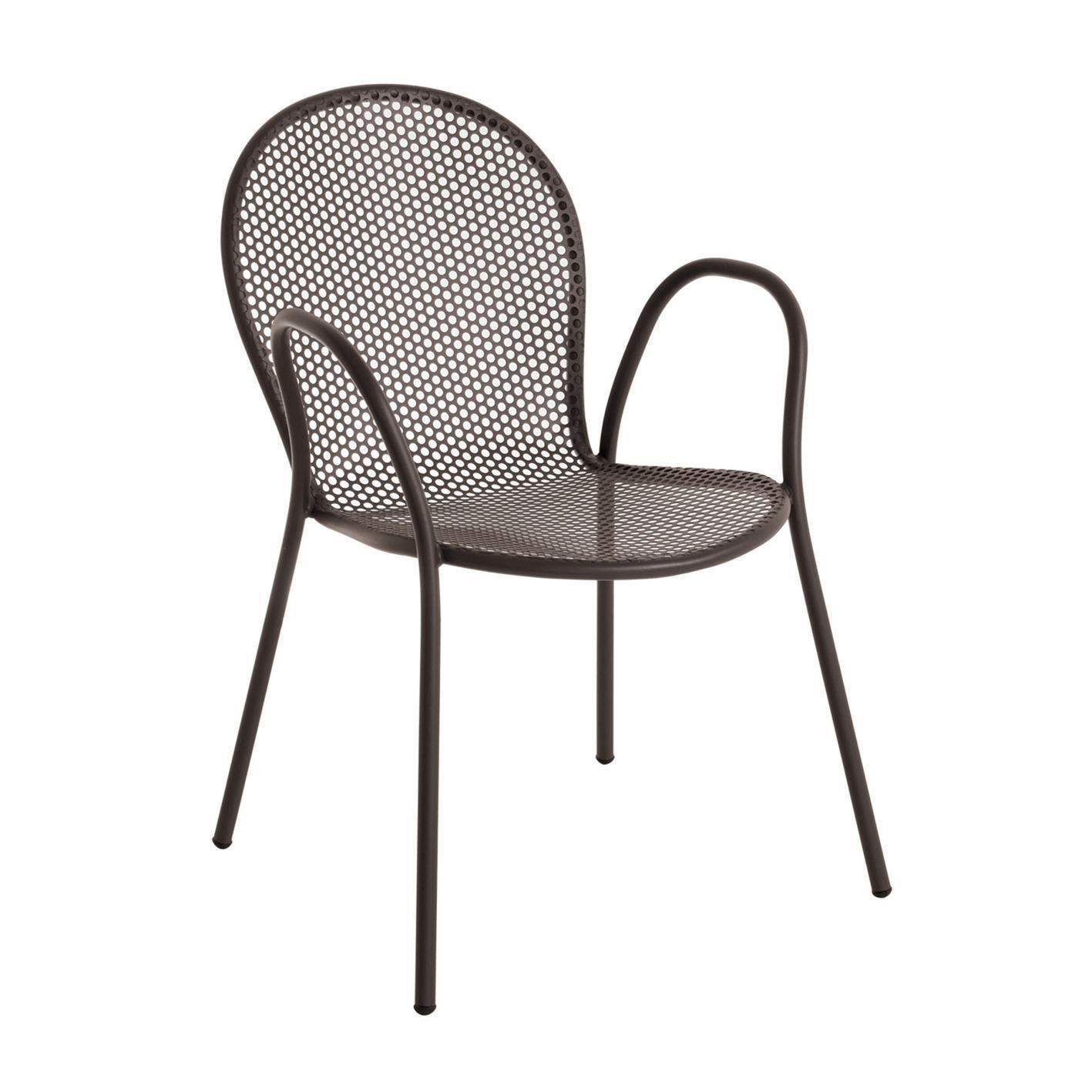 Sedia con braccioli senza cuscino Pavesino OASI BY EMU colore avana - 4