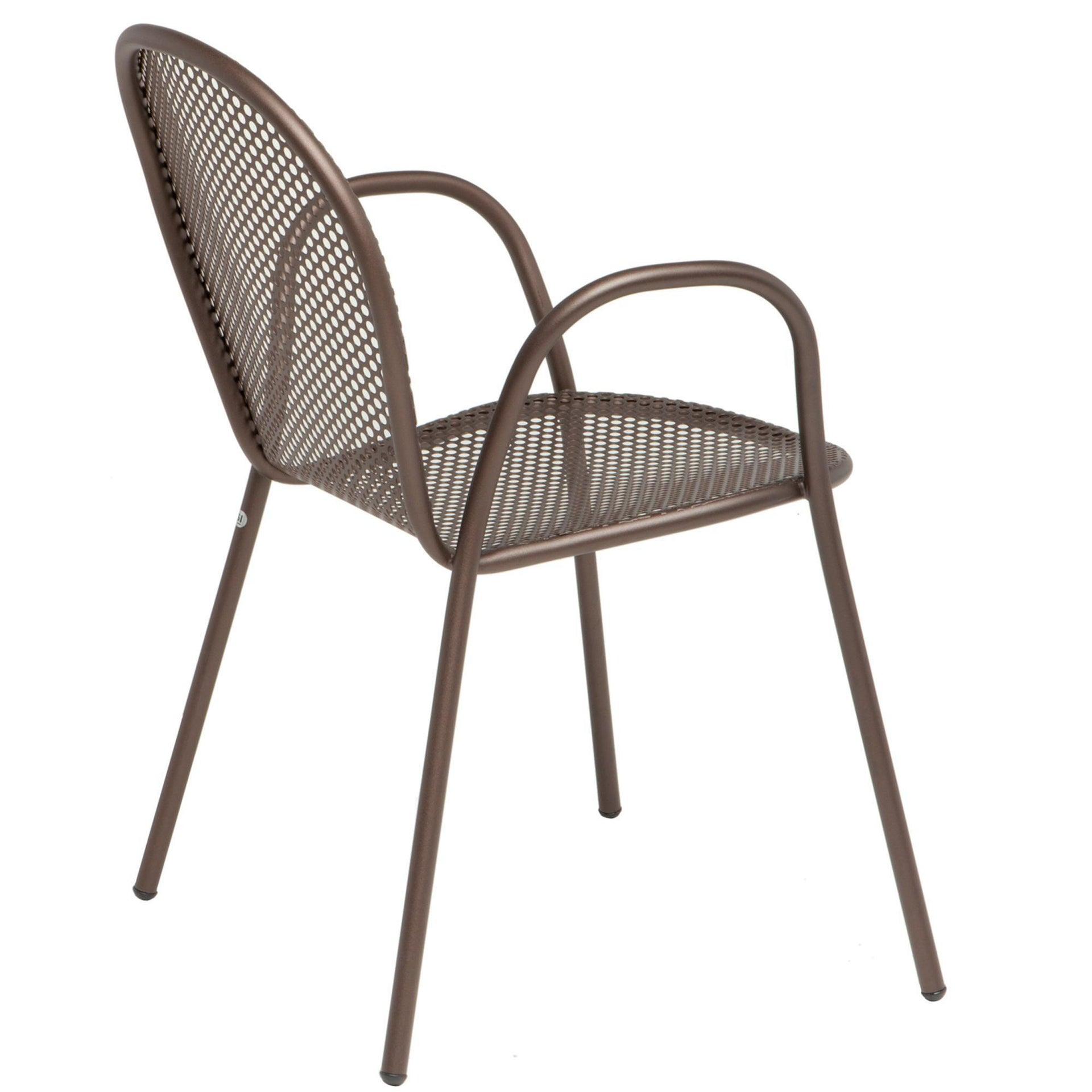 Sedia con braccioli senza cuscino Pavesino OASI BY EMU colore avana - 5