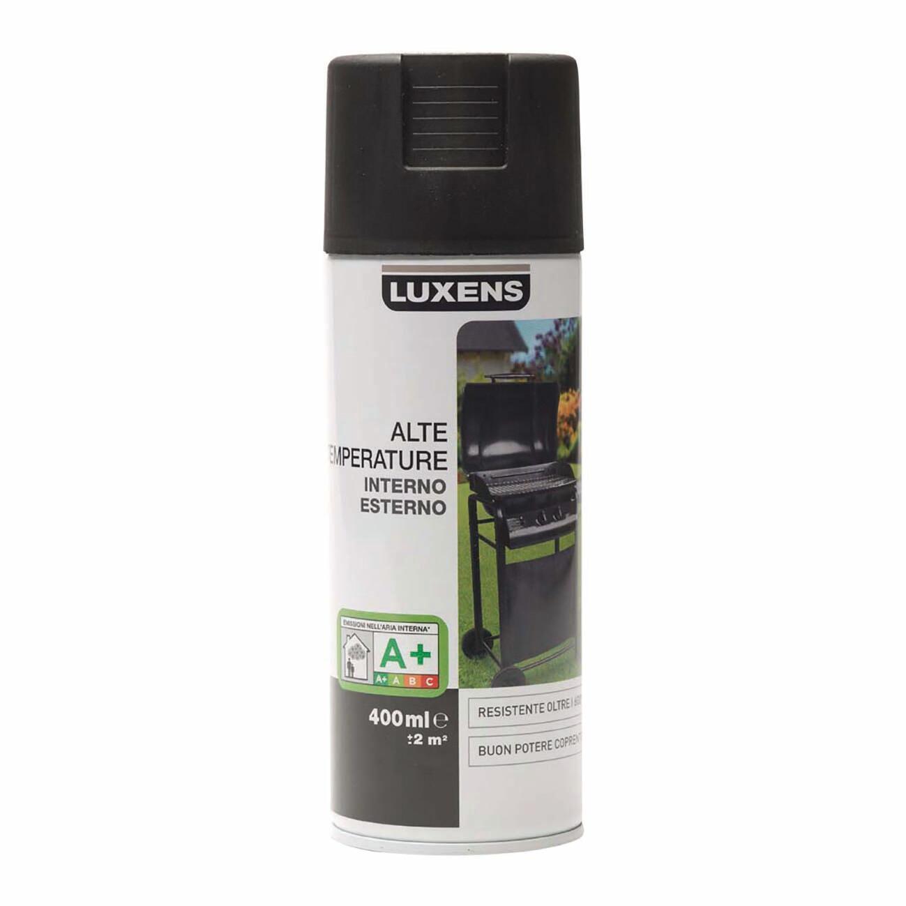 Smalto spray base solvente LUXENS 0.0075 L nero opaco - 1