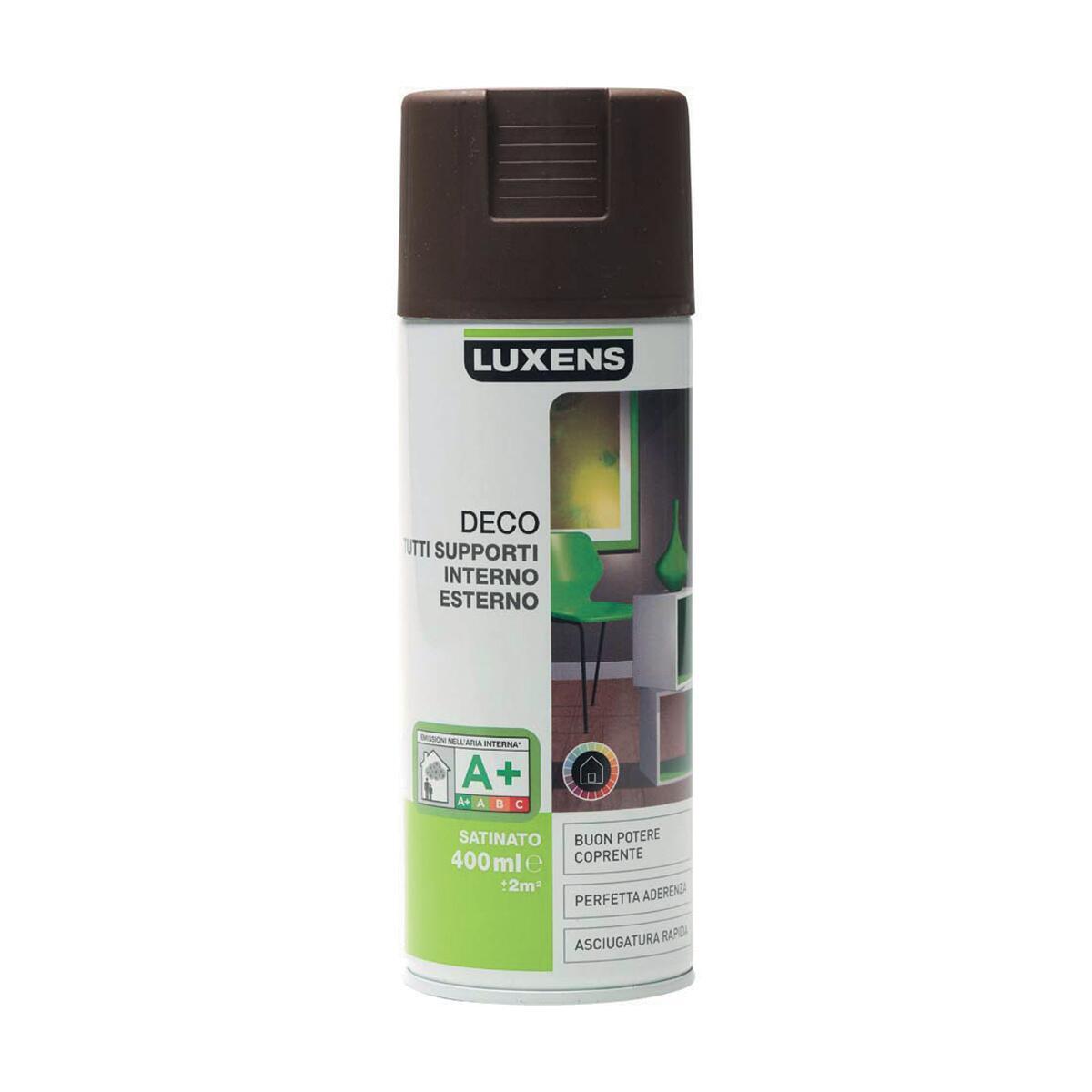 Smalto spray LUXENS Deco marrone cioccolato satinato 0.0075 L - 2
