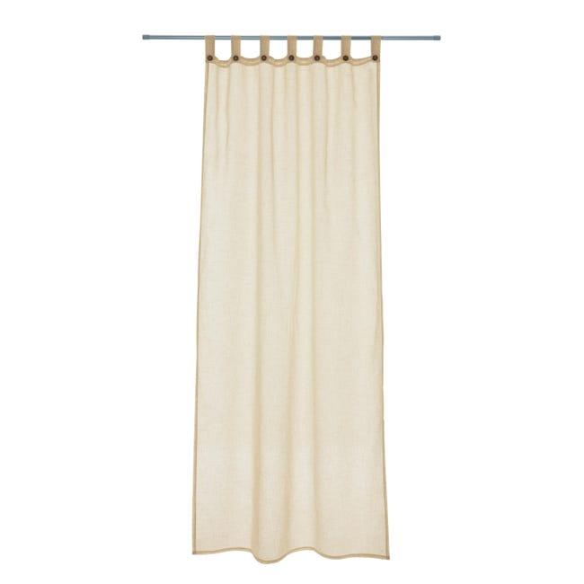 Tenda INSPIRE Charlina beige occhielli 140 x 280 cm - 1
