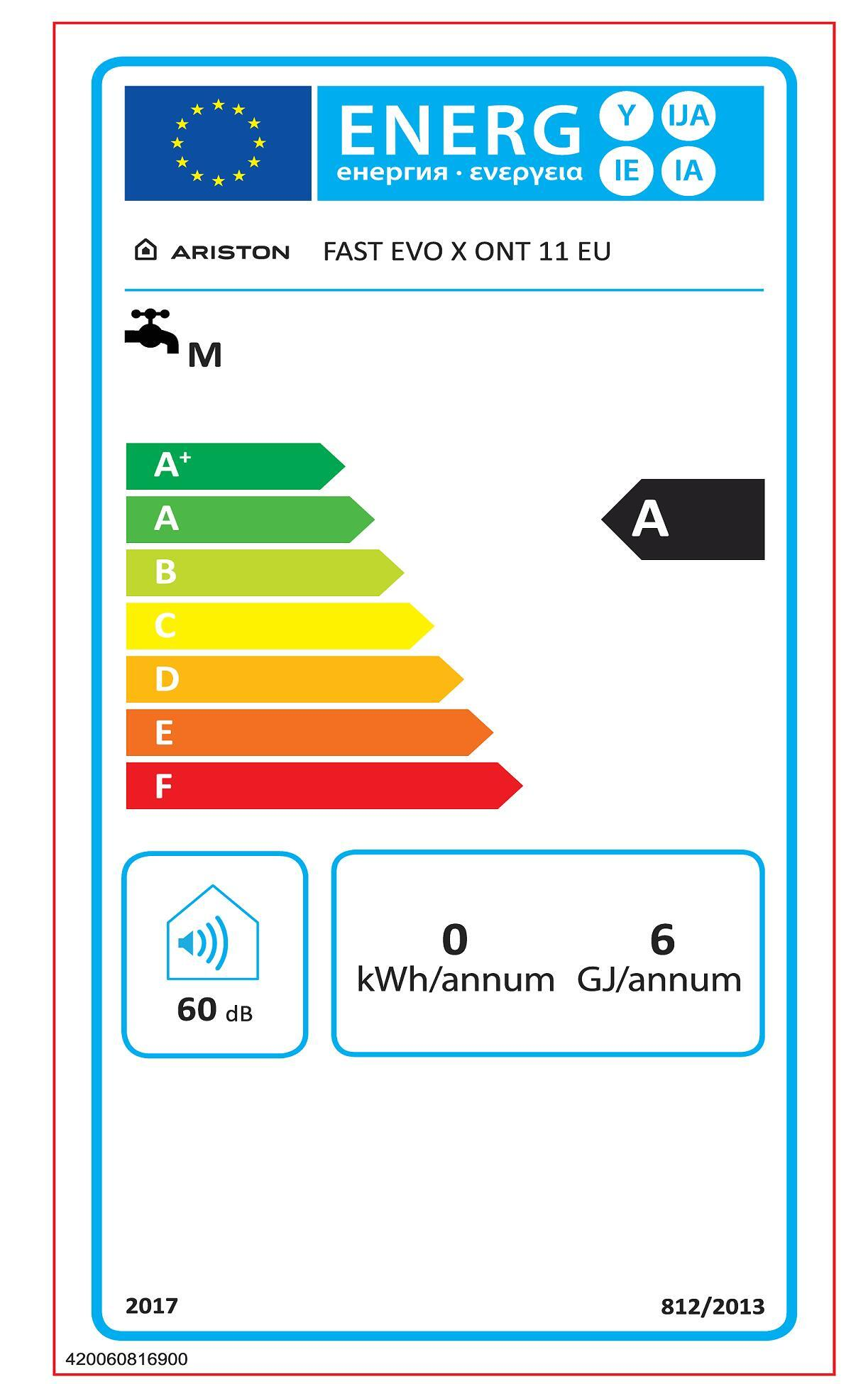 Scaldabagno a gas metano ARISTON Fast Evo X 11 Met 11 l/min - 2