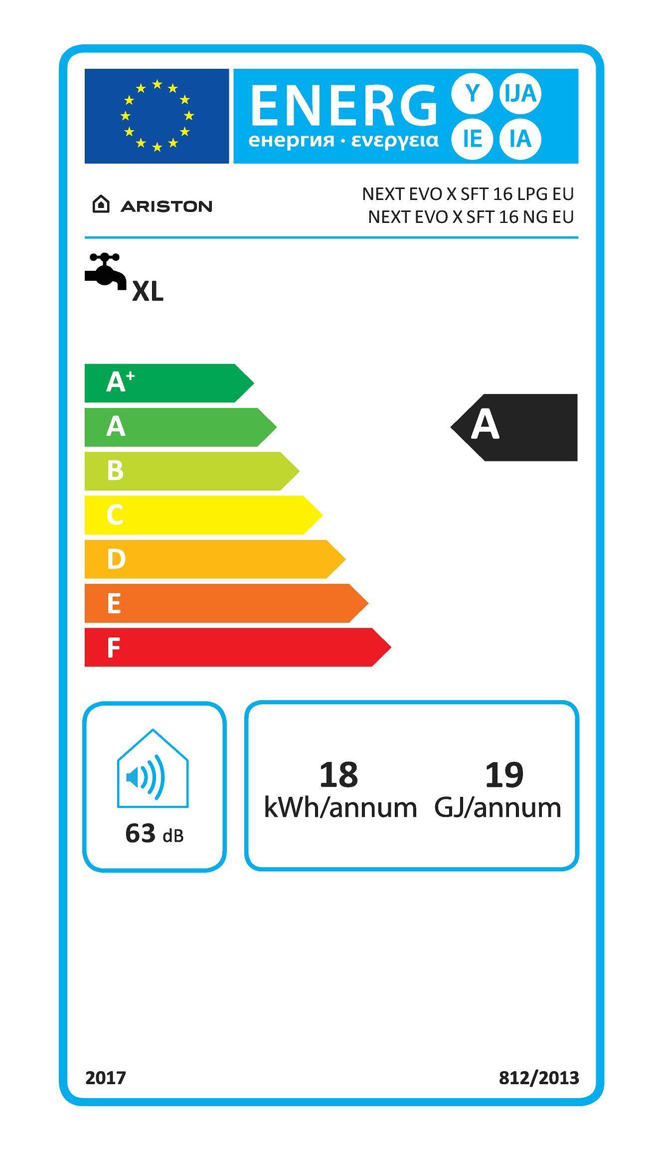 Scaldabagno a gas gpl ARISTON Next Evox 15 l/min - 2