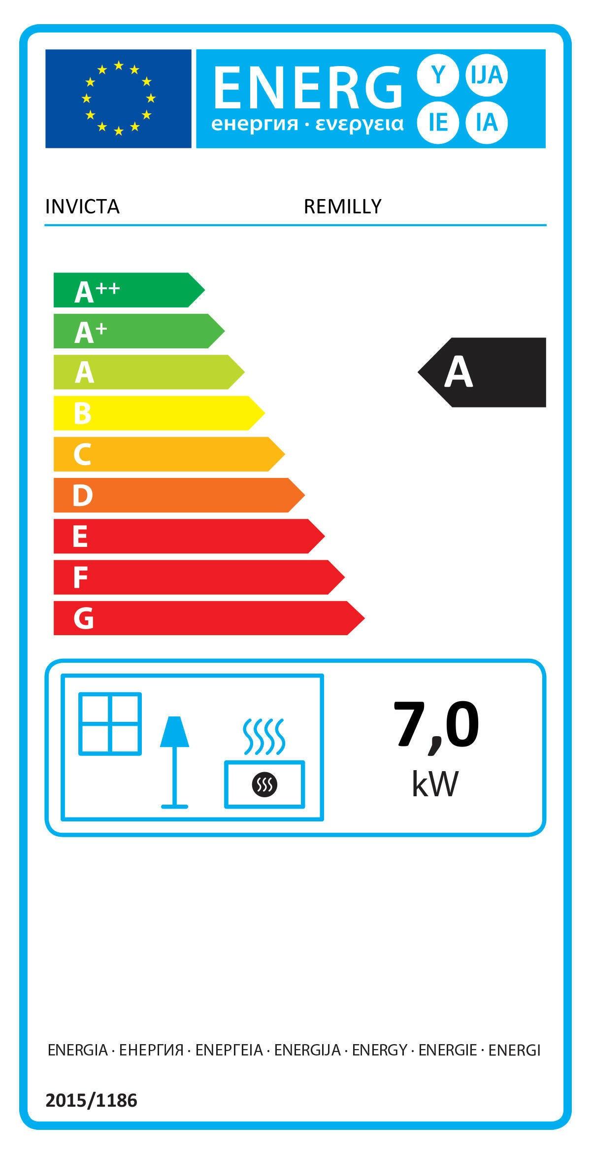 Stufa a legna INVICTA Remilly 7 kW antracite - 2