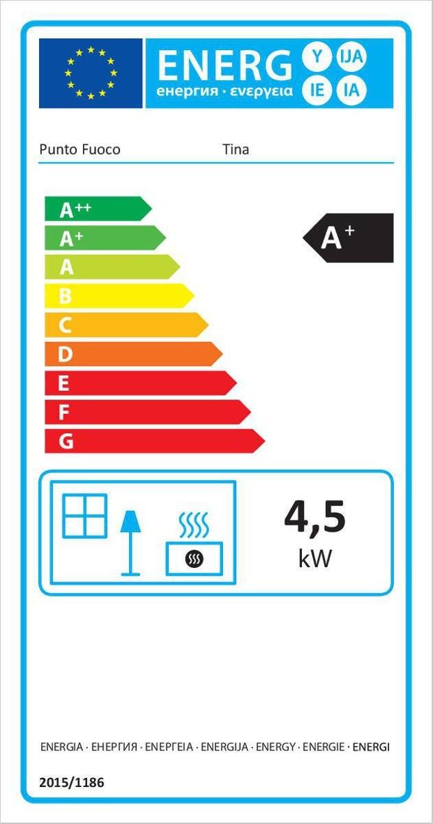 Stufa a pellet ventilata Tina 4 kW avorio - 3