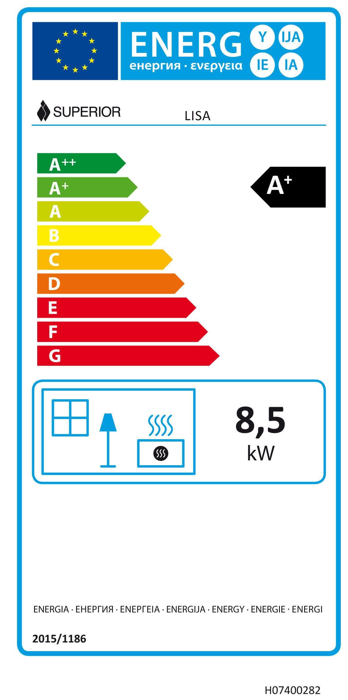 Stufa a pellet Lisa 8.5 kW bordeaux - 3