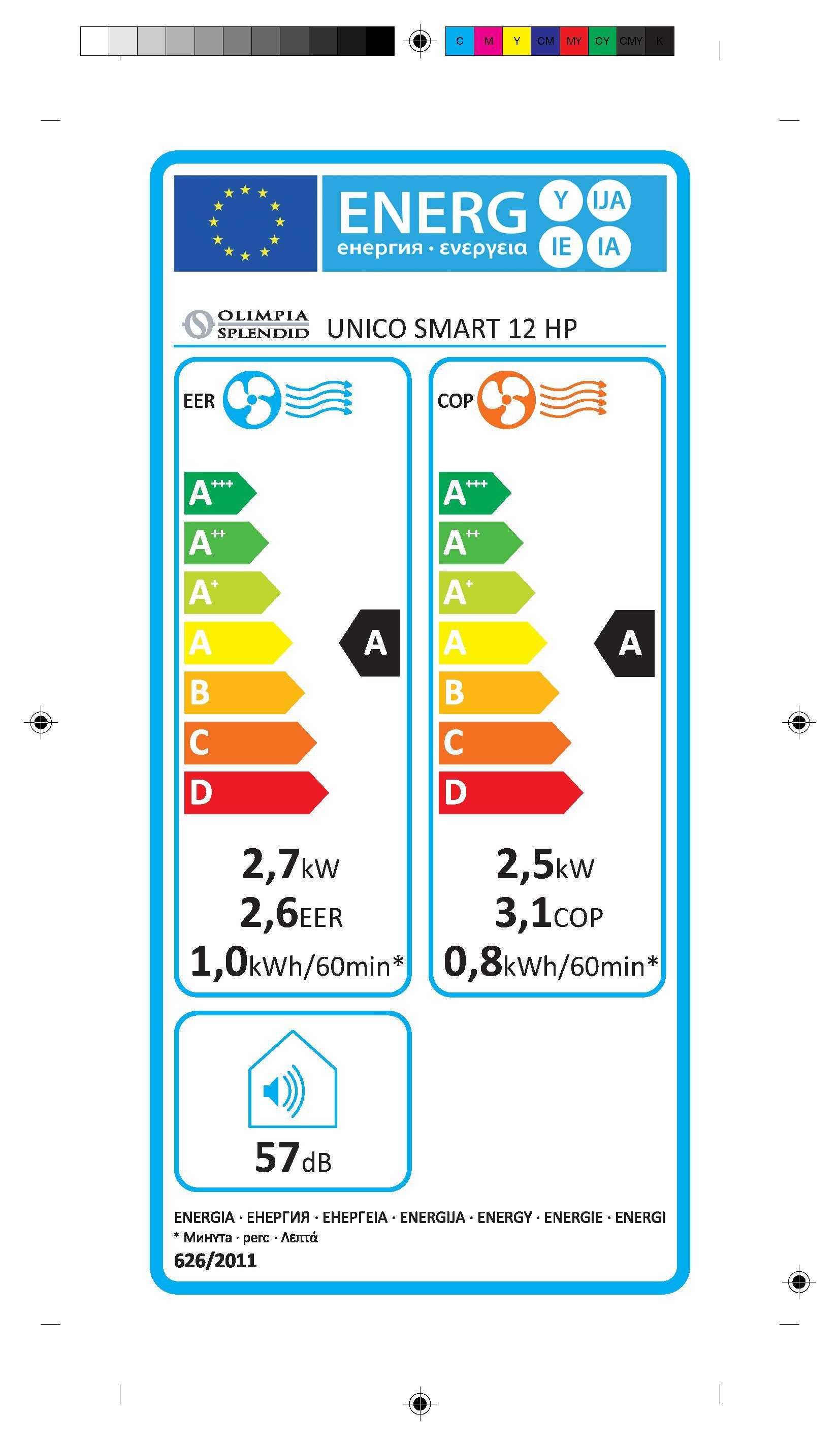 Climatizzatore monoblocco OLIMPIA SPLENDID Unico smart 9000 BTU classe A - 3