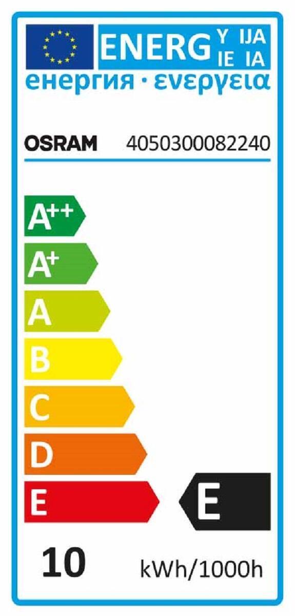 Set di 2 lampadine Alogena, E14, Bulbo, Trasparente, Luce calda, 10W=30LM (equiv 10 W), 360° , OSRAM - 2