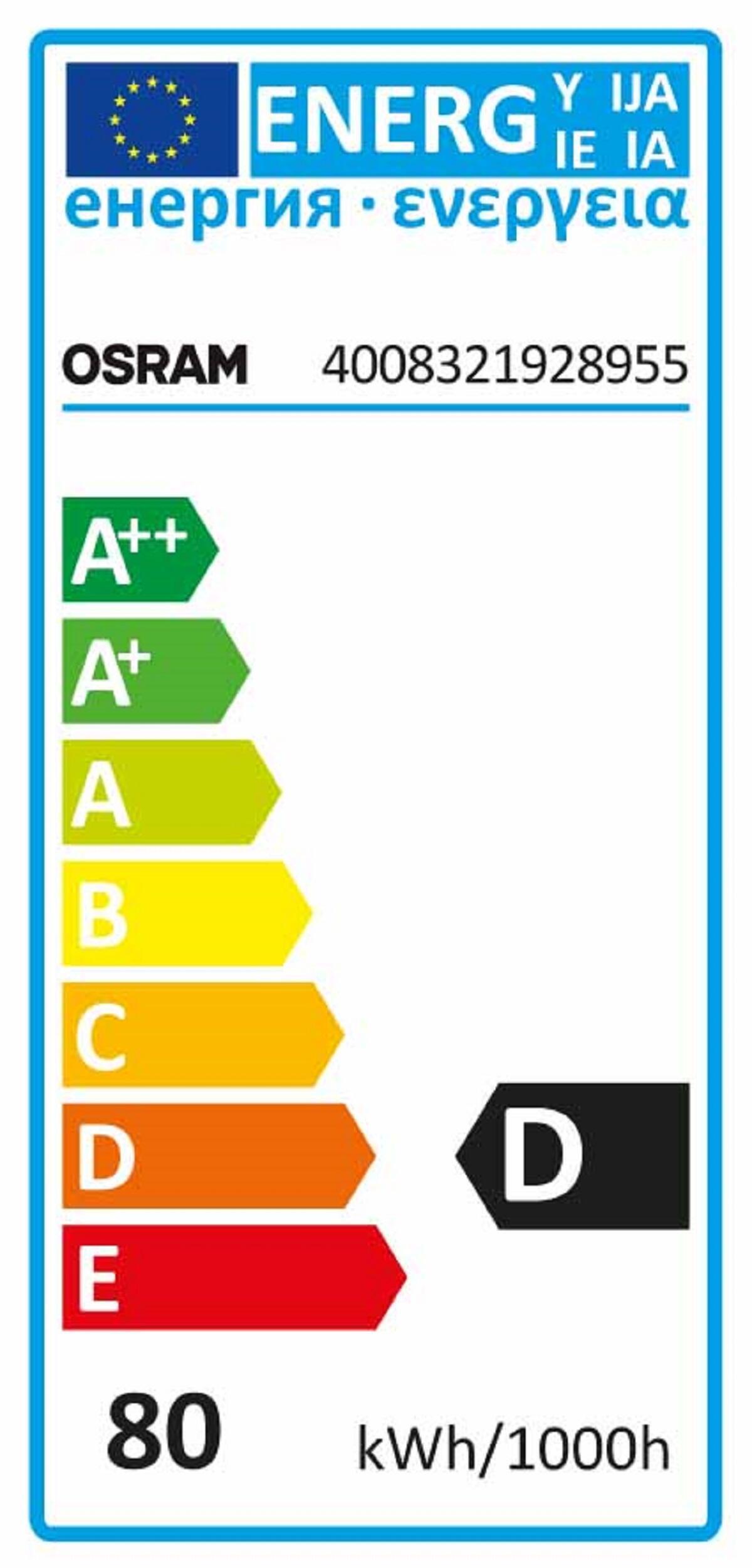 Lampadina Alogena, R7S, 78 mm, Lineare, Trasparente, Luce calda, 80W=1400LM (equiv 80 W), 360° , OSRAM - 6