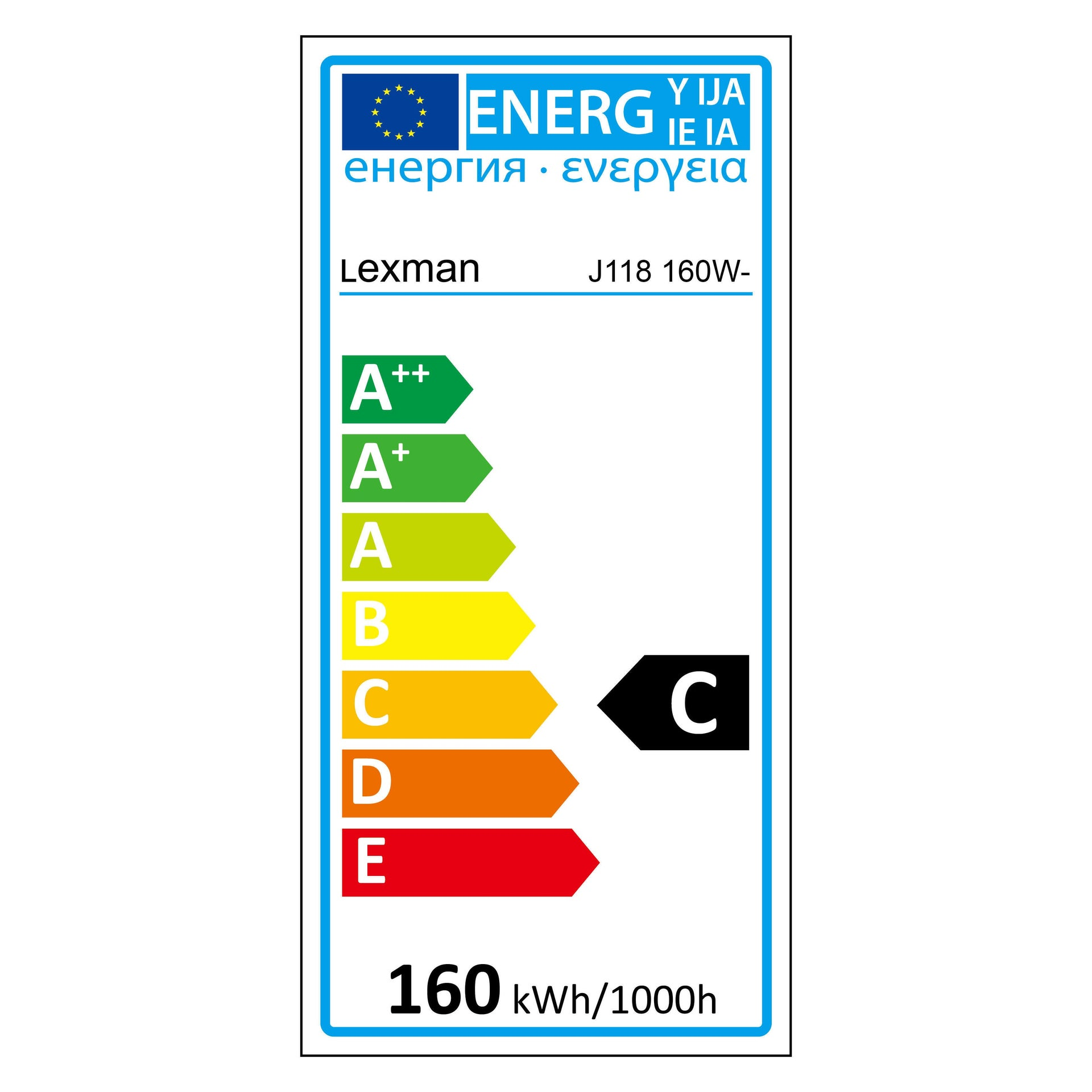 Lampadina Alogena, R7S, 118 mm, Lineare, Trasparente, Luce calda, 160W=3090LM (equiv 200 W), 5° , LEXMAN - 2