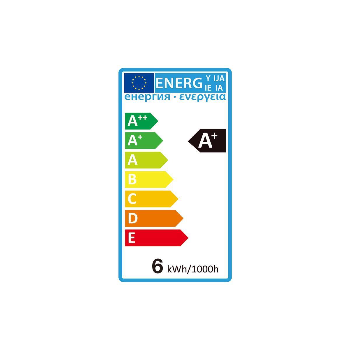 Set di 6 lampadine LED, GU10, Faretto, Smerigliato, Luce naturale, 6W=450LM (equiv 50 W), 100° , LEXMAN - 4