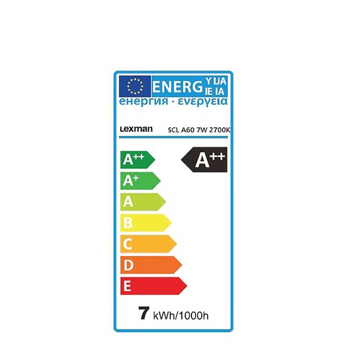 Lampadina LED filamento, E27, Goccia, Trasparente, Luce calda, 6W=806LM (equiv 60 W), 360° , LEXMAN - 11