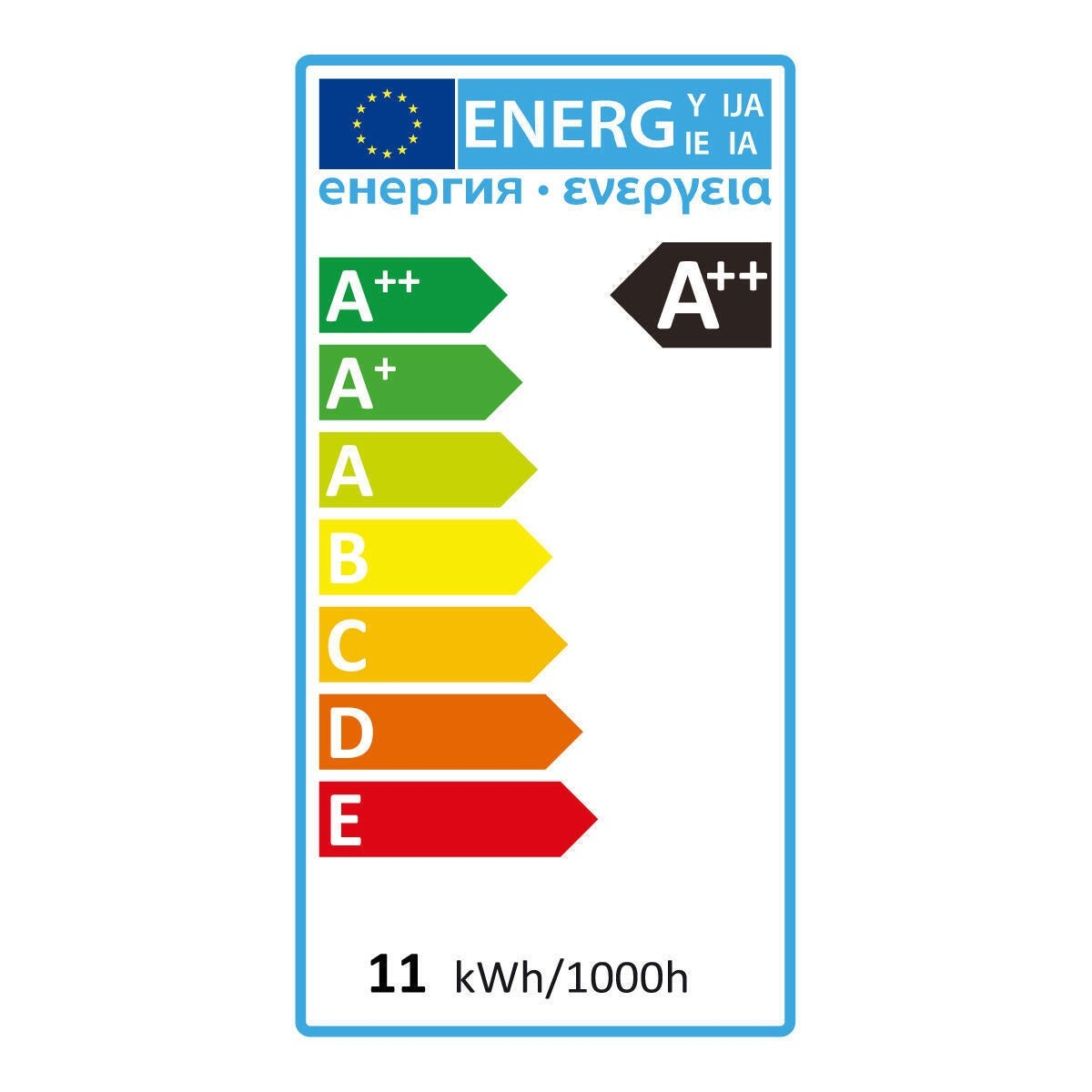 Lampadina LED filamento, E27, Goccia, Opaco, Luce calda, 11W=1521LM (equiv 100 W), 360° , LEXMAN - 5