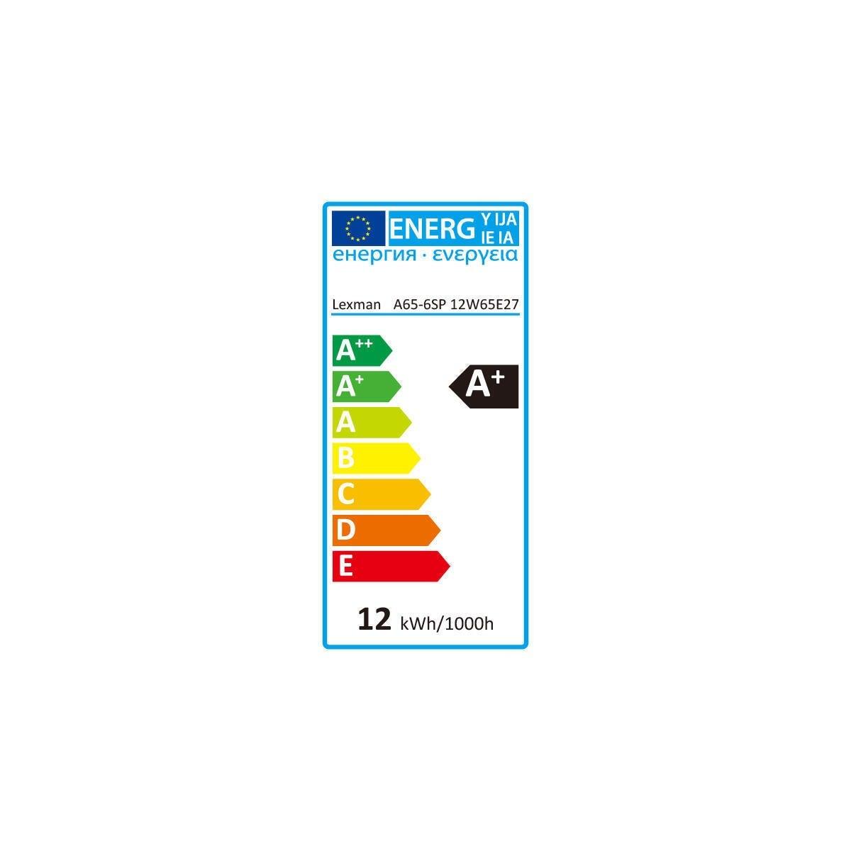 Lampadina LED, E27, Goccia, Opaco, Luce fredda, 12W=1055LM (equiv 75 W), 150° , LEXMAN - 3