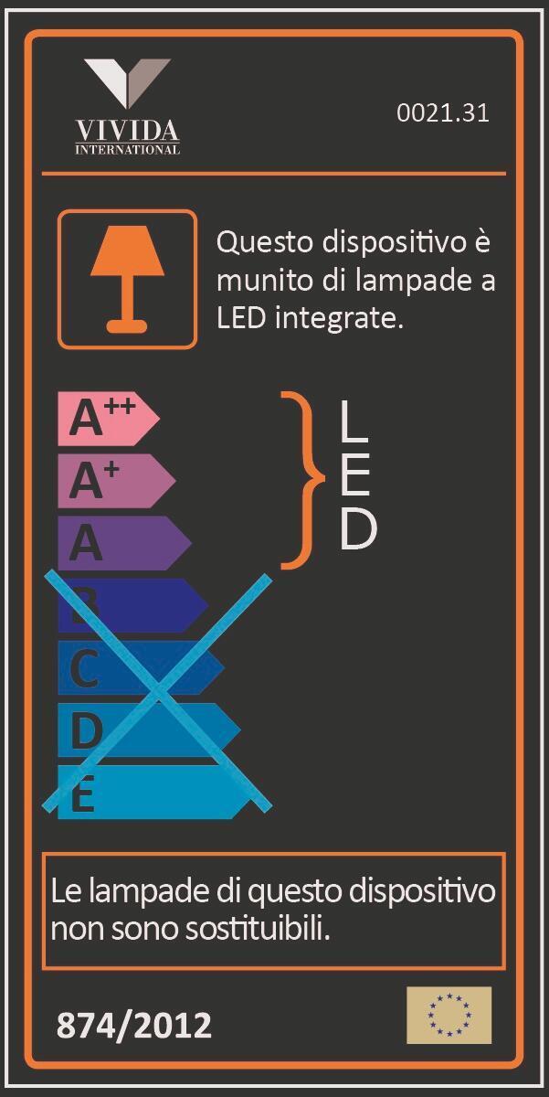 Lampadario Design Sky fall LED integrato bianco, in alluminio, L. 212 cm - 2