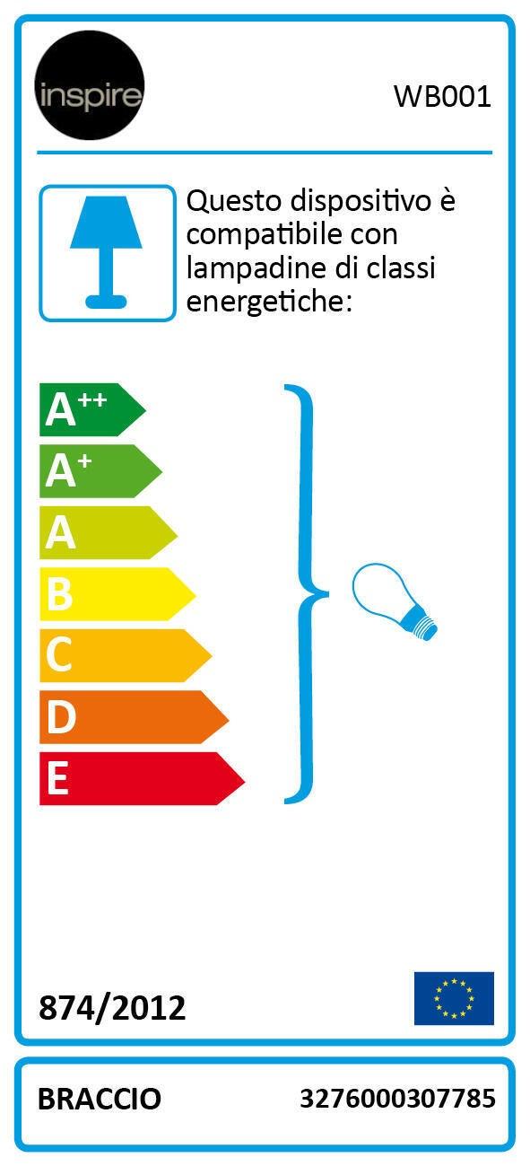 Applique industriale Braccio alluminio e ottone, in metallo, D. 14.0 cm 14.0 cm, INSPIRE - 4