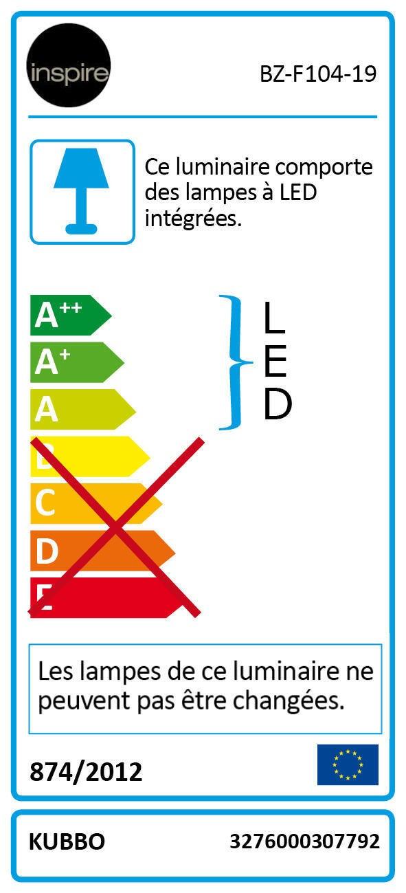 Applique design Kubbo LED integrato bianco, in alluminio, D. 10.0 cm 10.0x10.0 cm, INSPIRE - 8