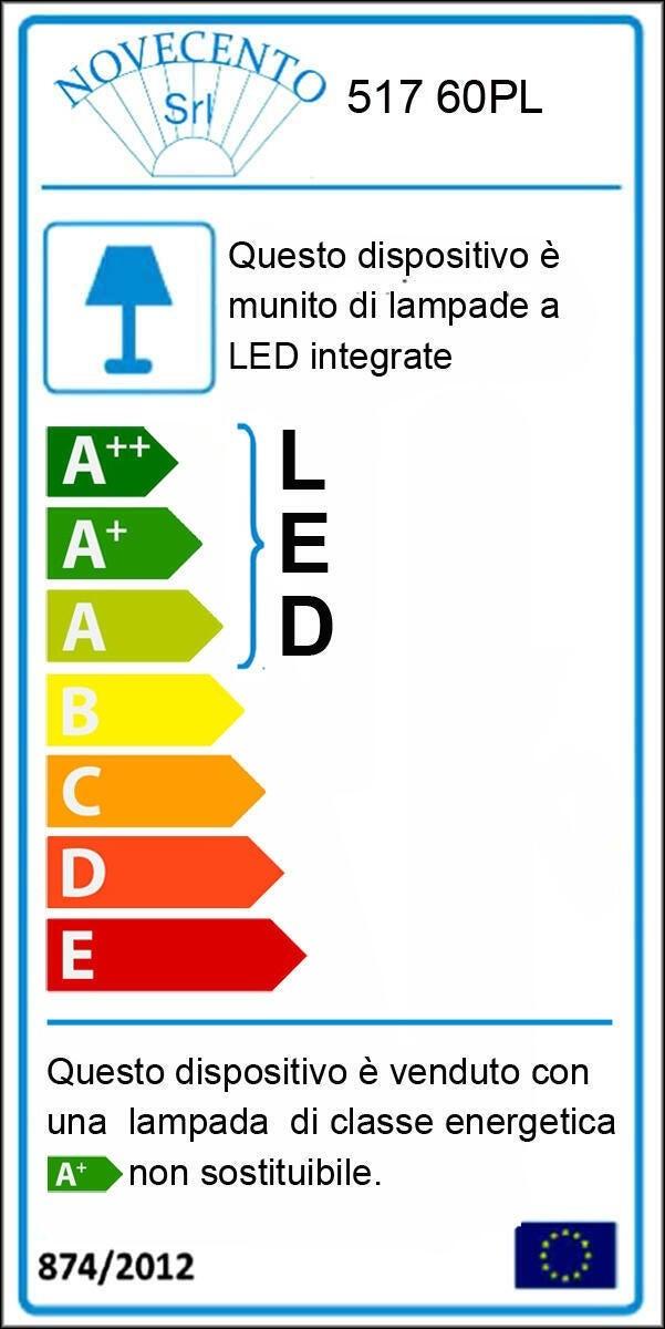 Plafoniera neoclassico Soledad LED integrato bianco D. 60 cm - 10