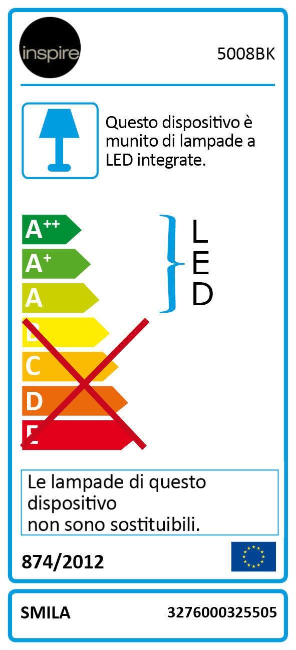 Applique moderno Smila LED integrato nero, in metallo, 60x60 cm, 5 luci INSPIRE - 2