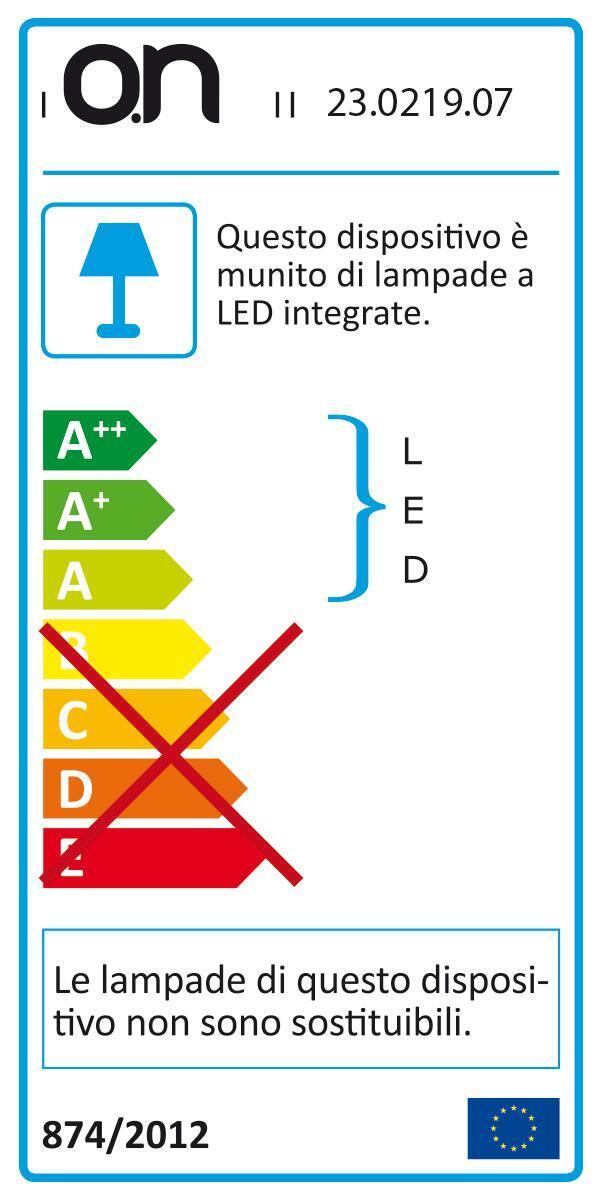Plafoniera Ovale LED integrato in alluminio, bianco, 6W 45LM IP65 - 2