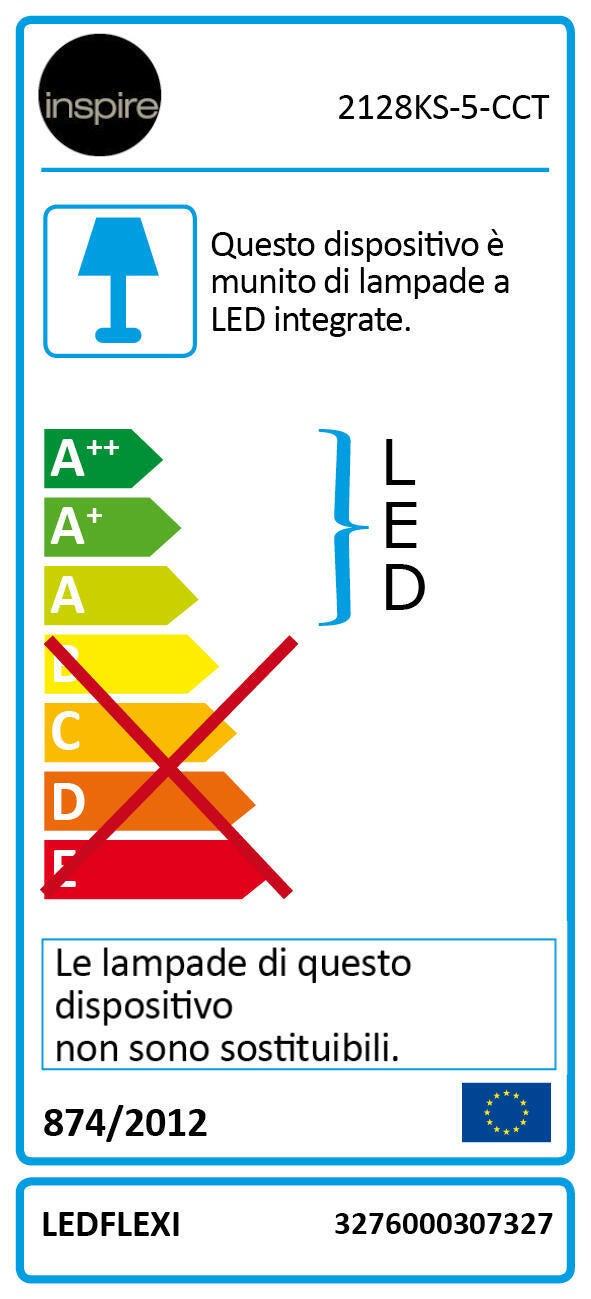 Striscia led 5m luce cct regolazione da bianco caldo a bianco freddo 400LM IP20 INSPIRE - 6