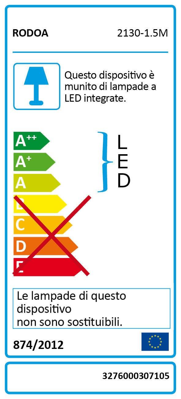 Striscia led 1.5m luce rgb 160LM IP20 - 4