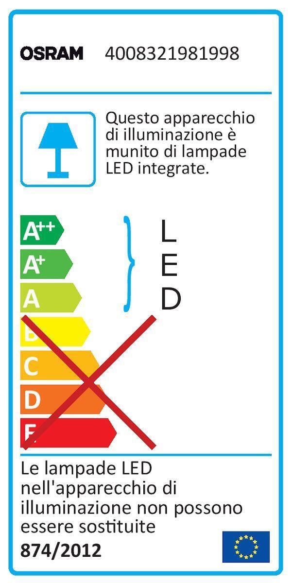 Proiettore LED integrato con sensore di movimento Noxlite in alluminio, grigio, 8W 1720LM IP44 OSRAM - 4