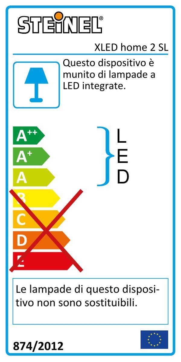 Proiettore LED integrato Xled home 2 sl in plastica, nero, 13W 1184LM IP44 STEINEL - 2