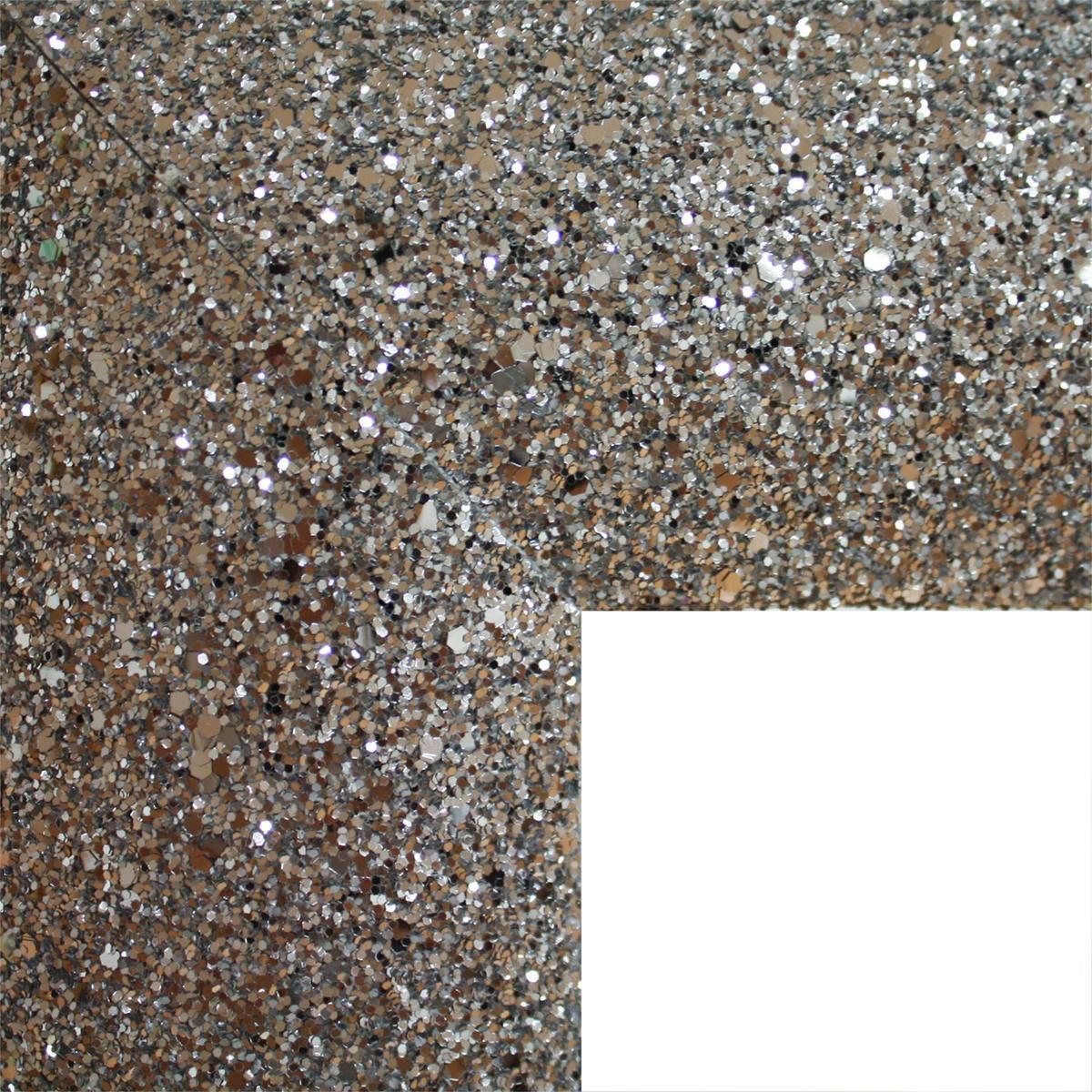 Specchio a parete rettangolare Glitterato argento 60x90 cm - 5