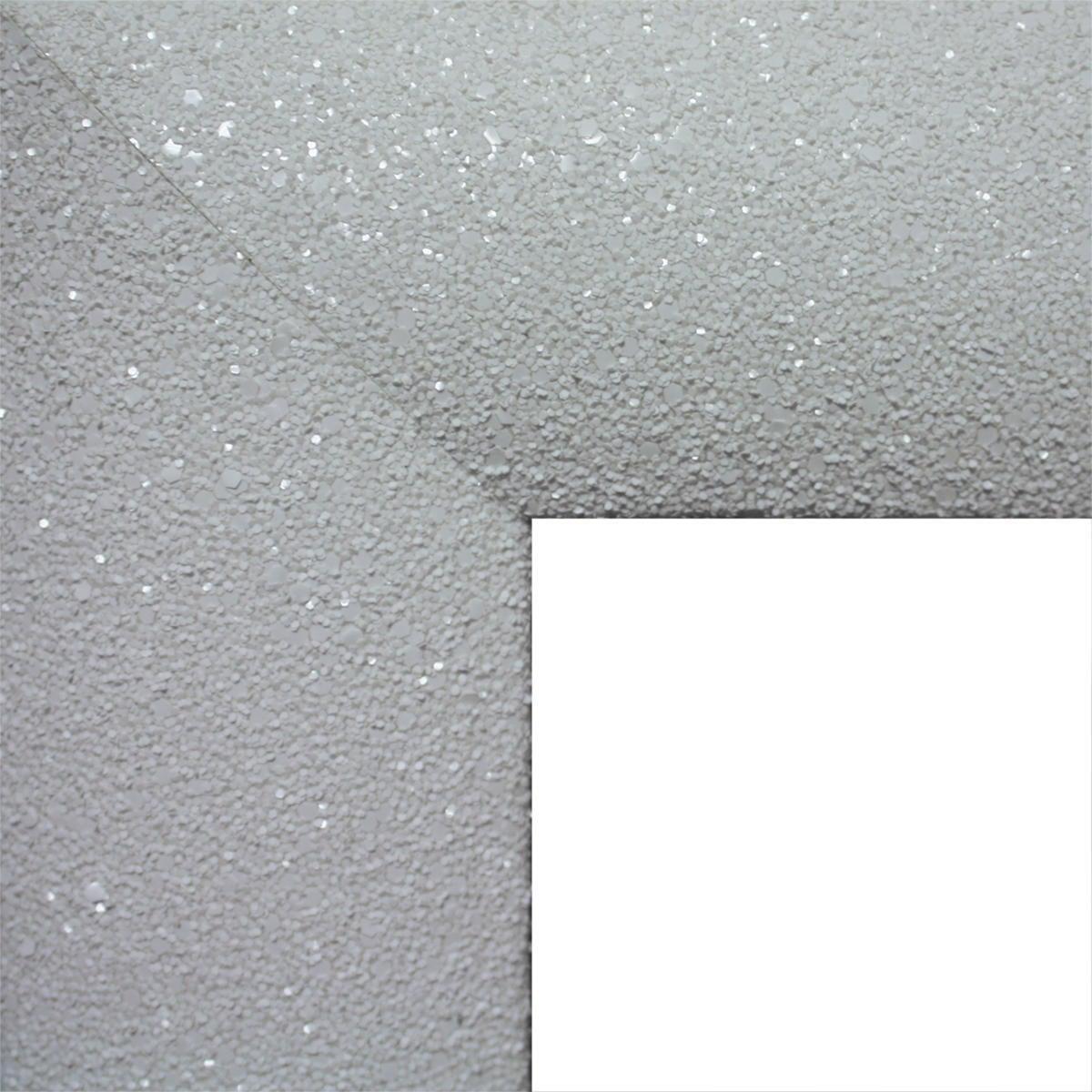 Specchio a parete rettangolare Glitterata bianco 60x90 cm - 2