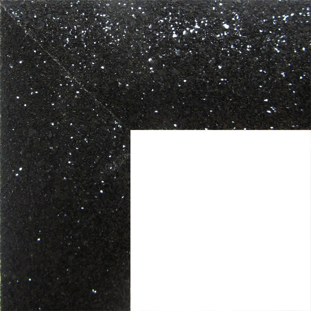 Specchio a parete rettangolare Glitterata nero 60x90 cm - 3