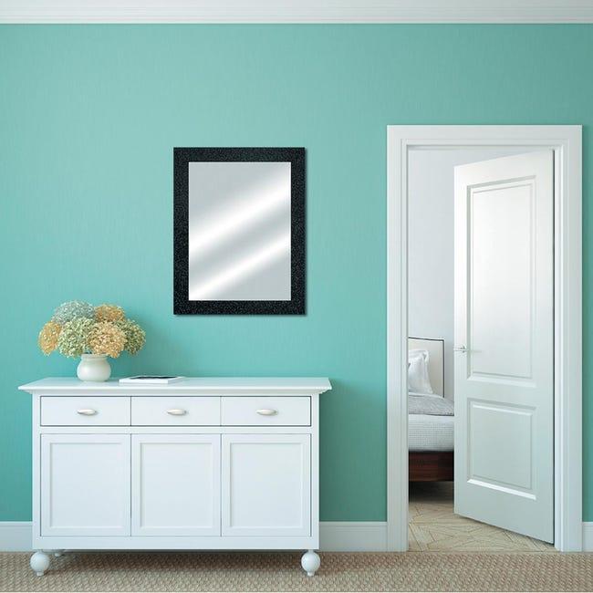 Specchio a parete rettangolare Glitterata nero 60x90 cm - 1