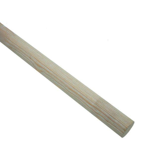 Bastone per tenda Aspen in legno Ø 28 mm bianco decapato 200 cm - 1