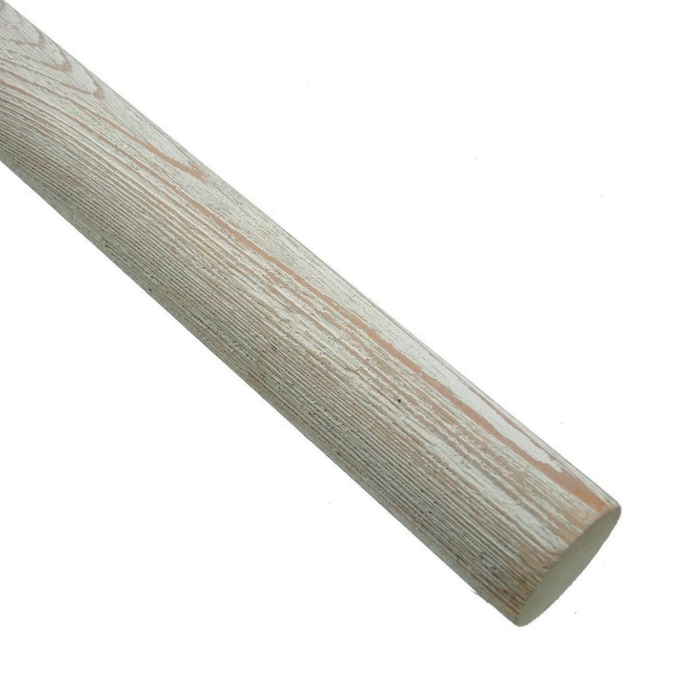 Bastone per tenda Aspen in legno Ø 35 mm bianco decapato 250 cm