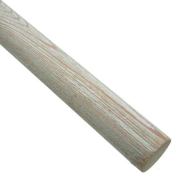 Bastone per tenda Aspen in legno Ø 35 mm bianco decapato 250 cm - 1