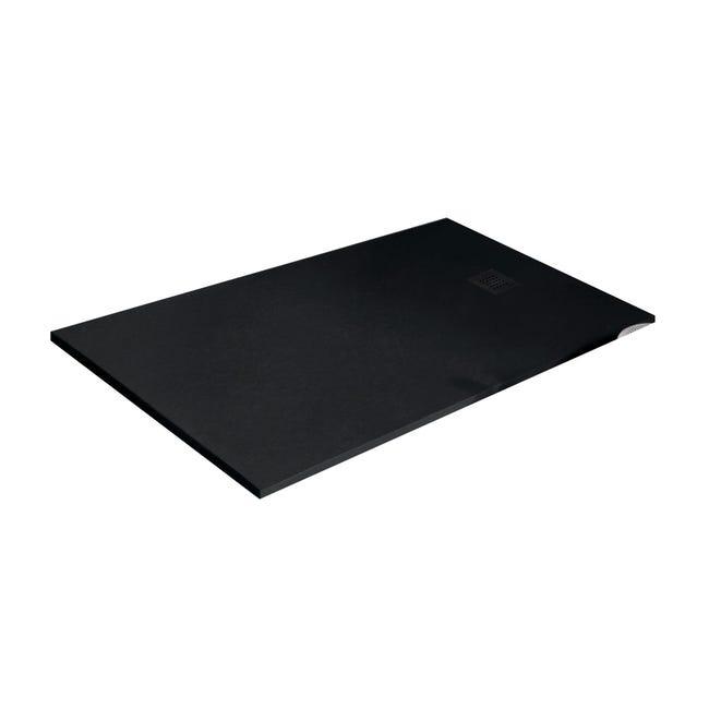 Piatto doccia resina Strato 180 x 80 cm nero - 1
